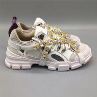 ingrosso scarpe escursionistiche scarpe da arrampicata-Scarpe 2019 Cristalli Hot autentica FlashTrek Sneaker estraibile Casual di montagna delle donne Uomini Arrampicata Lace-Up scarpe da trekking Sneakers 7 -13