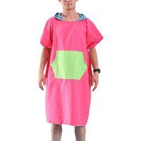 ingrosso abito da bagno di tovagliolo adulto-2019 nuove donne uomo cambiando spiaggia accappatoio Asciugamano ad asciugatura rapida all'aperto adulto con cappuccio mantello poncho accappatoio asciugamani