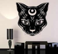 Wholesale wallpaper cat for sale - Group buy Black Cat Moon Vinyl Wall Stickers Witch Magic Witchcraft Wall Decal DIY Self adhesive Wallpaper Removable d Poster