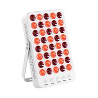 thérapie anti-vieillissement anti-lumière rouge achat en gros de-Lumière de thérapie infrarouge proche rouge infrarouge du vieillissement 660nm 850nm du soulagement de la lumière du bureau 60W LED