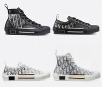 Wholesale vintage lace up shoes women resale online - B23 High Top Oblique Sneakers B23 low top Oblique sneaker Luxury Fashion Designer B23 Sneakers Men Women Vintage Trainer Brand Shoes