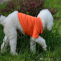 Wholesale easter clothes for babies resale online - Fashion Dog Polo Shirts For Spring Summer Colorful Pet Clothes Poromeric Material For Small Baby Pet Easy Washing Factory Price L6E