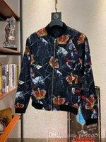 roupas de vermelho chinês venda por atacado-2019 estilo primavera designer de roupas masculinas verde vermelho listrado carta jaquetas clássicas tamanho chinês ~ tops designer jaquetas de alta qualidade para homens