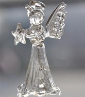 glas garten ornamente großhandel-Großhandel Fashional Design und High Quality Glass Angel Wind Bell-Verzierung für Haus-und Garten-Dekorationen