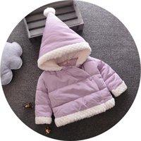 neugeborene größe baby jungen kleidung großhandel-Neue Neugeborene Babykleidung Mädchen Winter Mäntel Warm Mit Kapuze Langarm Größe Kleidung Bodys