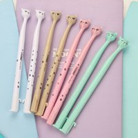 Wholesale cat stationery pens resale online - 4 Cartoon Cat Neutral Pen Cute Fresh Creative Simple Pen Examination Office Stationery Supplies