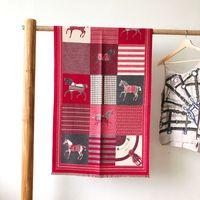 Wholesale warm blankets for women resale online - Winter Wool Scarf For Women Warm Horse Pashmina Style Blanket Scarves