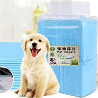 pañal transpirable al por mayor-Fábrica de perro desechable directo para mascotas engrosamiento de pañales pulpa no tejida almohadillas urinarias para gatos suministros de limpieza para mascotas transpirables 40kt E1