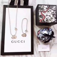 Wholesale connected jewelry for sale - Group buy 2019 New L Titanium steel gg Necklace Pendant double ring connect women and man Necklace Brand designer Jewelry