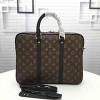 ingrosso valigie di lusso-New fashion luxury designer bag, valigetta firmata in pelle, super grande capienza moda stampa lusso Borsa modello M41478