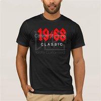 comprar camisas clásicas al por mayor-camiseta de moda casual para hombre cuello redondo cool man Buy Vintage 1968 Classic Rock 50th Birthday GifT Summer Mens T Shirt
