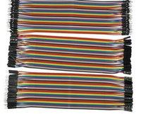 ingrosso arduino diy-Dupont line 120pcs 20cm 1P-1P da maschio a maschio + da maschio a femmina e da femmina a femmina cavo jumper Cavo Dupont per kit fai da te Arduino
