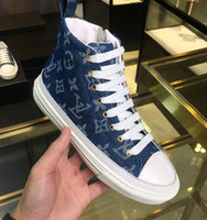 Wholesale comfort work shoes for sale - Group buy New luxury comfort Denim face Side zipper high top women s shoes Thick bottom canvas handmade shoes sports boots