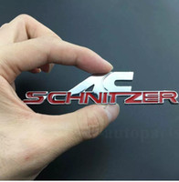 Wholesale car door handles stickers resale online - AC Schnitzer Trunk emblem stickers mm mm black red color car decoration