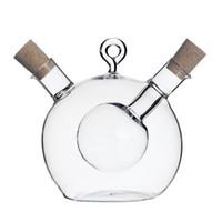 bouteille d'épices au vinaigre achat en gros de-8pcs haute température bouteille d'épice huile et vinaigre bouteille en verre sauce bocal en verre assaisonnement scellé verre bouteilles de vin de stockage
