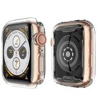 klare uhren groihandel-Apple Watch 4 Schutzhülle mit integriertem TPU-Displayschutz - Allround-Schutzhüllen HD Clear Ultra-Thin Cover für Apple iwatch Serie 4