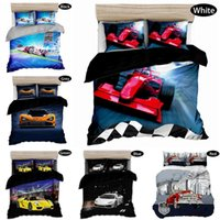 Wholesale 3d bedding sets cars resale online - Fashionable sports car printing D oil Bedding Set pieces large locomotive printing boy down quilt boy christmas happy gift