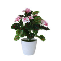 ingrosso piante artificiali desktop-Pianta artificiale del fiore con la decorazione delle piante della serra della pentola per l'esposizione da tavolino della decorazione del giardino domestico variopinta