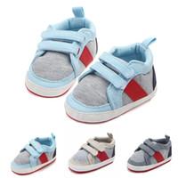 закрытый открытый кроссовки оптовых-Toddler Baby Boy Girl First Walkers Sneakers Soft Sole Infant Prewalker Crib Shoes For Indoor Outdoor