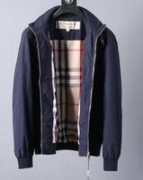 zip boyun üstü toptan satış-2019 yeni erkek ceket tasarımcı ceket kadın ceket trençkot yuvarlak boyun iş ceket moda en kaliteli zip üst