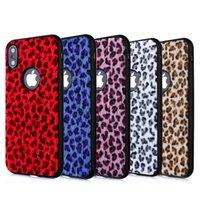 léopard iphone 5s achat en gros de-Etui à rabat motif léopard pour iPhone XS MAX XR Housse en TPU pour iPhone 7 8 6 plus 5s SE