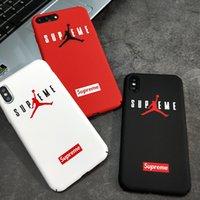 coque arrière rigide pour logo iphone achat en gros de-Basketball Jorda Logo Sport Matte Étui Coque Arrière Coque Dur Pour IPhone 7 5 5s se 6 6s 8 Plus pour IPhone X XS MAX XR
