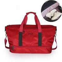 Fashion shoe warehouse Gym Bag Women Shoe Compartment Waterproof Sport Bags  for Fitness Training Yoga Bolsa Sac De Sport 46919a0dc16bc