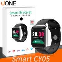 Wholesale heart rate blood pressure resale online - CY05 Smart Watch Bracelet Inch Bluetooth Smartwatch Fashion Sports Waterproof Fitness Activity Tracker With Heart Rate Blood Pressure