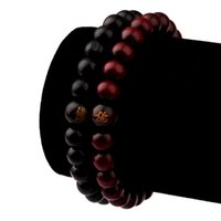 bracelet bois argent achat en gros de-Nouveau Hot Hip Hop Hommes Bois Perles Bracelets Bois De Santal Bouddha Bouddha Méditation Prière Perle Bracelet En Bois Bijoux K5350