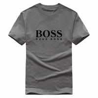 модные мужские рубашки поло оптовых-Модная футболка высокого качества от дизайнерского брендаBOSS Летние топы с коротким рукавом Футболки Мужские топы Рубашки поло