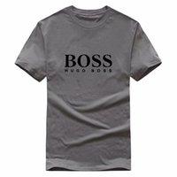 mode polo herren tops großhandel-Fashion Hochwertiges T-Shirt von Designer BrandBOSS Summer Tops Kurzarm T-Shirt Herren Tops Polo Shirts