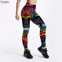 Wholesale girls corduroy trousers for sale - Group buy Summer Style Women Leggings Color Skull Printed Leggings Slim Workout Leggings Punk Girl Trousers Drop Shipping