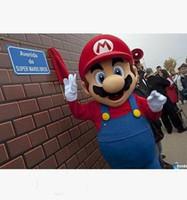 süper mario maskot kostüm toptan satış-Yeni Özel Made Süper Mario Bros Maskot Kostüm Ücretsiz Kargo