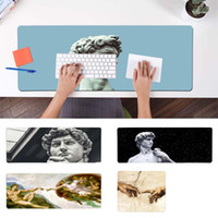 Wholesale art mouse pads resale online - BBTHBDNBY The Creation of Adam David art Locking Edge Mouse Pad Game Speed Control Version Large Gaming Mouse Pad