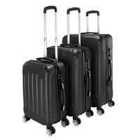 Wholesale suitcases trolley cases resale online - 3 Piece Expandable Inch Inch Inch Black Stylish Suitcases ABS Trolley Case Hardside Spinner Luggage Personalized trolley case Universa