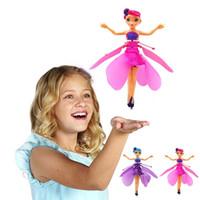 рождественские феи куклы оптовых-Haoxin LED Sensing Fairy Anna Летучий куклы Marvel Железный Человек-паук Капитан Америка Супермен Mini Remote Drone Детский Рождественский подарок игрушки