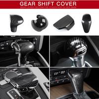 fibra de carbono audi a5 venda por atacado-Audi A3 A4 A5 A6 A7 S3 S6 Q5 Q7 Sline S linha de fibra de carbono plástico ABS Cutch deslocamento de engrenagem Emblem Case Cover Etiqueta