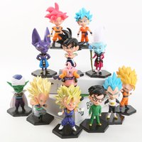 Wholesale toys for sale - Dragon Ball Z Action Figure Super Saiyan Toys Goku Vegeta Lovely Children Present Per Set tj F1