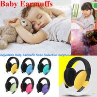 orejeras infantiles al por mayor-Reducción Jeringa niño recién nacido del bebé de las orejeras del oído Protección Seguridad manguitos del oído ruido
