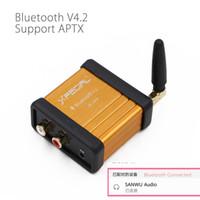 kit amplificador bluetooth al por mayor-kit HIFI-Class Bluetooth 4.2 Receptor de audio Amplificador Estéreo Modificación Soporte APTX Low Delay Gold bluetooth manos libres kit de coche