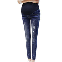 Fashsiualy Pregnant Woman Legging Jeans Maternity Pants Trousers Nursing Prop Belly ubrania ciazowe Ladies Clothing