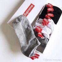 marke sommersocken großhandel-SUP Sockenhefterzufuhren Für Liebhaber Flut Marke Sommer Hip-Hop Skateboard Socken Für Männer Frauen Baumwolle Sport Socken 6 Paare / los