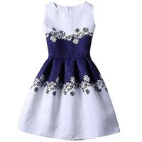 ligne de vêtement papillon achat en gros de-A-ligne Enfants Robes Pour Fille Vêtements Imprimer Papillons Bleu Adolescent Casual Enfants Filles Robe Robe Infantil 6 12 Ans XF67