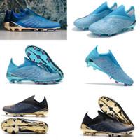botas messi al por mayor-2019 X original 19+ FG Messi velocidad malla exterior Tacos de fútbol para hombre Nueva baja del tobillo botas de fútbol zapatos X 18 X 18 FG fútbol Speedmesh