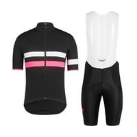 ingrosso camicie bianche nere-RCC Color strip Edition nero Bianco 2019 Maglia da ciclista Maglia da ciclismo Ciclismo Mens pro da bicicletta Maillot Culotte Maglia da indossare