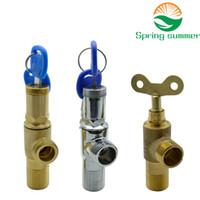 Wholesale garden valve for sale - Group buy SPRING SUMMER Outdoor garden brass Triangle valve bathroom accessory Anti theft triangle valve lock delta valve