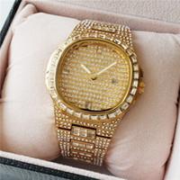 Wholesale butterfly shaped watch for sale - Group buy Hot Luxury Men s Watch ROYAL OAK Diamond Calendar Casual Quartz Watch Double Butterfly Dark Buckle