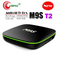 núcleo t2 al por mayor-2019 Quad Core Android TV Box M9S T2 Quad Core 1GB 8GB 2GB 16GB 4K H.265 1080P Transmisión de video H3 IPTV TV Cajas Mejor MXQ PRO TX3 X96 S905W