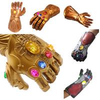 eldiven boyu s toptan satış-Avengers 4 Endgame 36 CM 1: 1 Boyutu Thanos Demir Adam eldiven 2019 Yeni çocuk yetişkin Cadılar Bayramı cosplay Doğal lateks Infinity Da ...