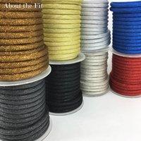 cuerda trenzada de plástico al por mayor-Comercio al por mayor 6mm 7 Metros Trenzado Hilo Metálico Redondo Plástico Tubos Cordones de Metal Alambre Bandas Tejidas Cuerda Craft Collar de Fabricación